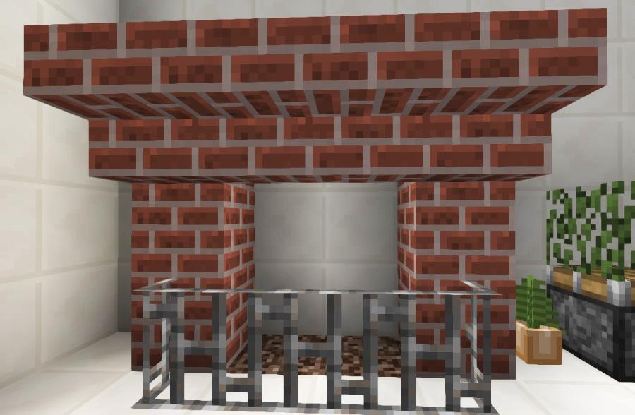 シンプルな暖炉