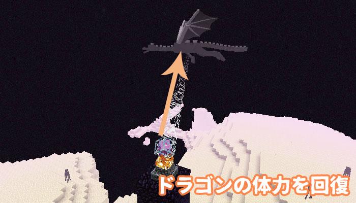 エンダークリスタルで回復するドラゴン