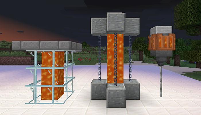 溶岩の街灯デザイン