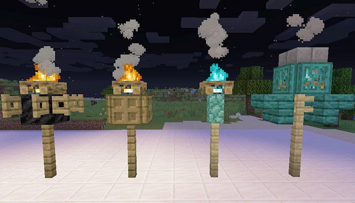 焚き火の街灯デザイン