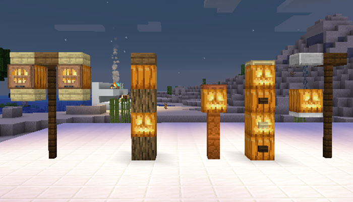 ジャック・オ・ランタンの街灯デザイン
