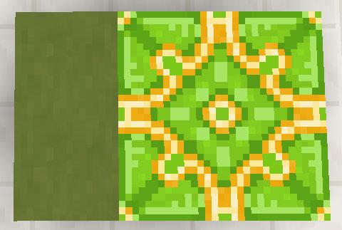 黄緑色のテラコッタと彩釉テラコッタ
