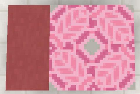 ピンク色のテラコッタと彩釉テラコッタ