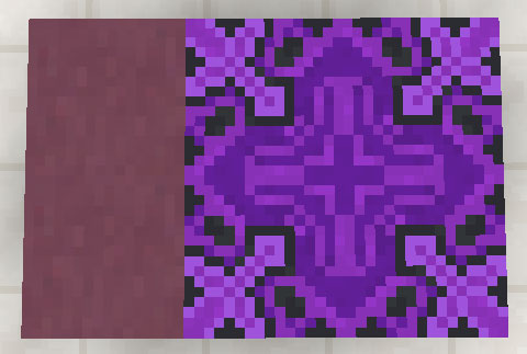 紫色のテラコッタと彩釉テラコッタ