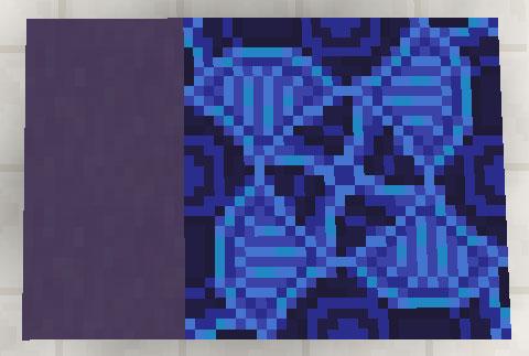 青色のテラコッタと彩釉テラコッタ