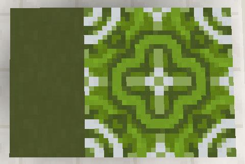 緑色のテラコッタと彩釉テラコッタ