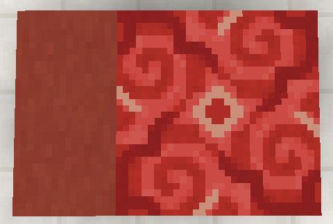 赤色のテラコッタと彩釉テラコッタ