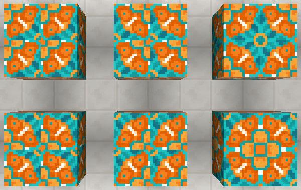 オレンジ色の彩釉テラコッタ