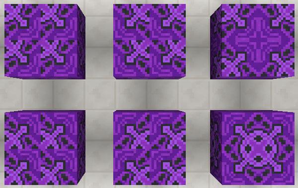 紫色の彩釉テラコッタ