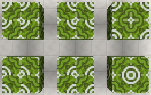 緑色の彩釉テラコッタ