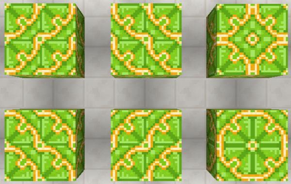 黄緑色の彩釉テラコッタ