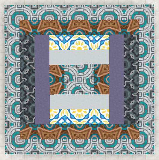 和柄の彩釉テラコッタ