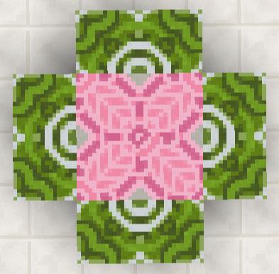 彩釉テラコッタ配置一例