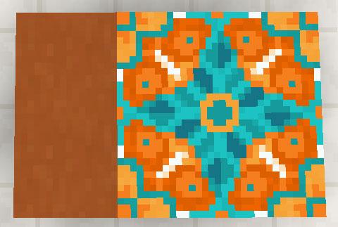 オレンジのテラコッタと彩釉テラコッタ