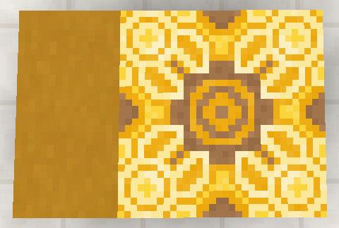 黄色のテラコッタと彩釉テラコッタ