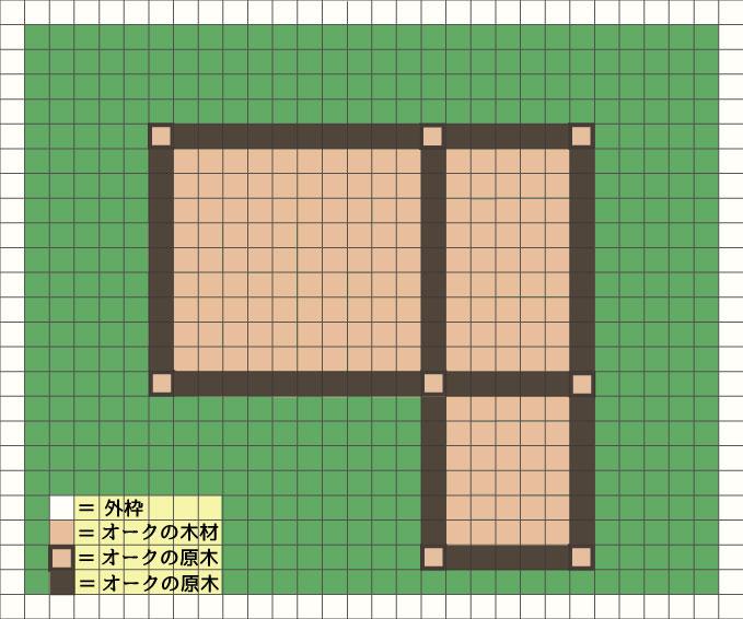 梁を作る位置の設計図
