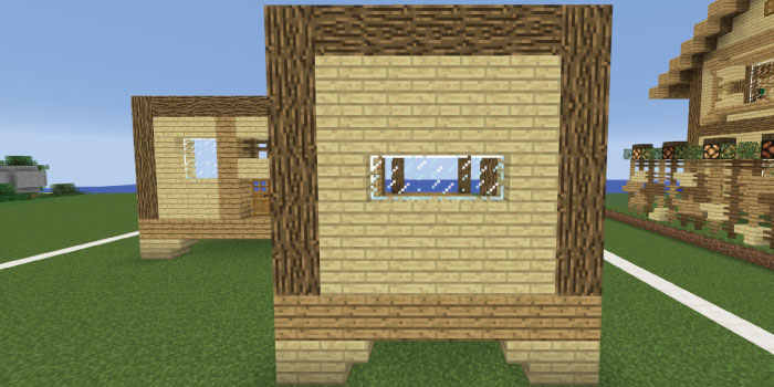 1階の壁を作る(右側前面)