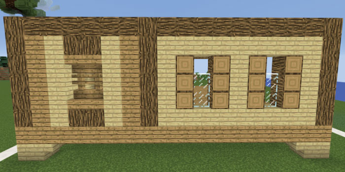 1階の壁を作る(右側側面)