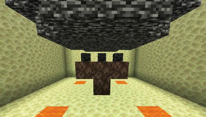 ポータルの下にウィザーの材料を設置