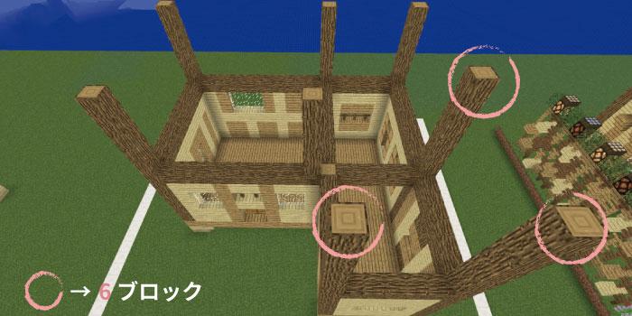 2階の支柱を立てる