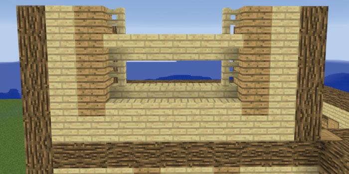 2階の壁を作る(左側前面)