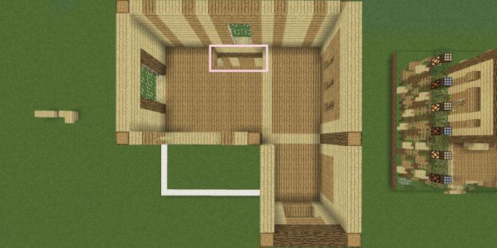 2階の床の一部を空ける