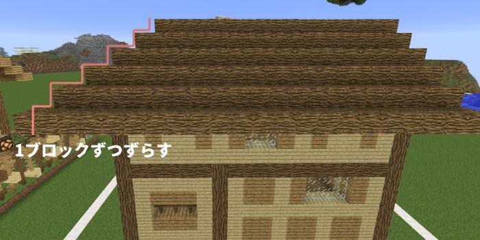 屋根の反対側を作る