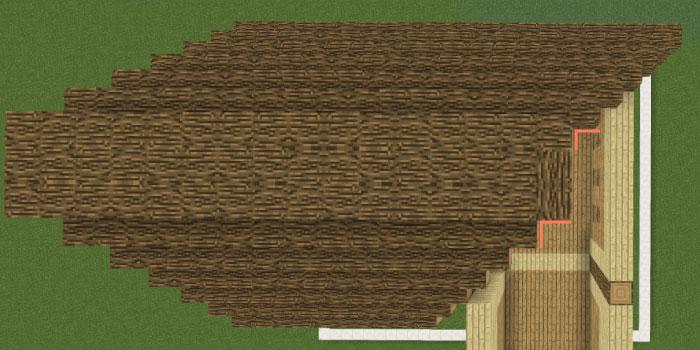 屋根の中央を作る