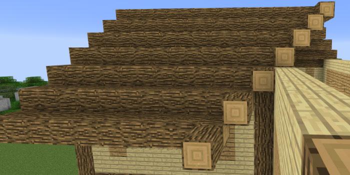 屋根をカーブさせる