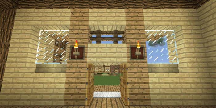 玄関前に明かりを設置