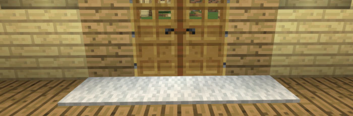 玄関前にカーペットを敷く
