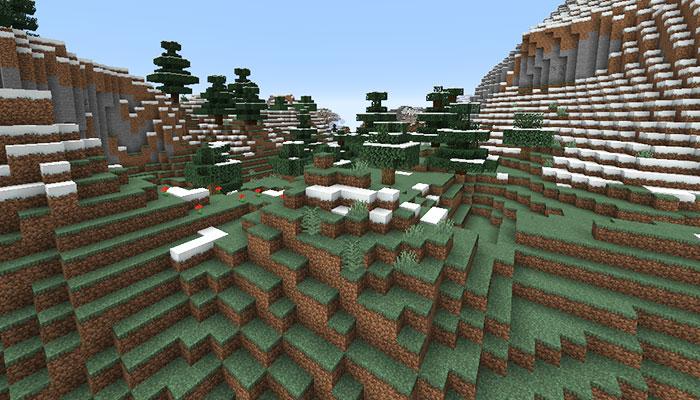 森のある山バイオーム