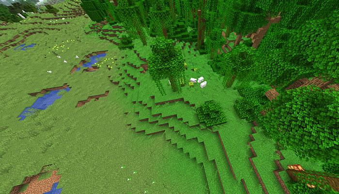 ジャングルの端バイオーム