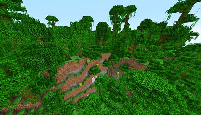 ジャングルの丘バイオーム