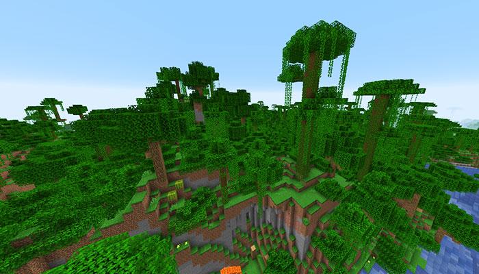 変異したジャングルバイオーム