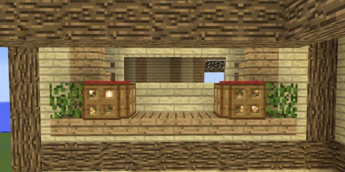 2階の壁の飾り付け