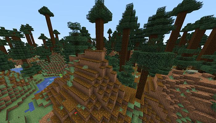 巨大樹のタイガの丘バイオーム