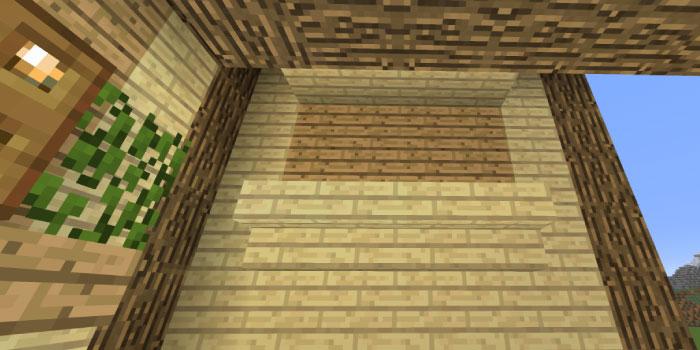 2階の壁の飾り付け(右側側面)