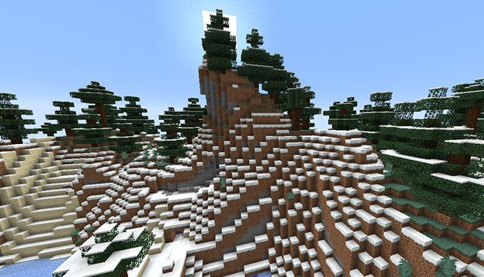 雪のタイガの山バイオーム