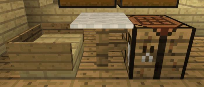 作業テーブルとイス