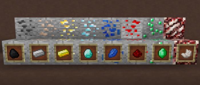 マインクラフトに存在する全8種の鉱石