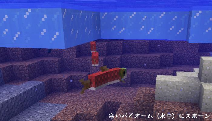 川を泳ぐサケ