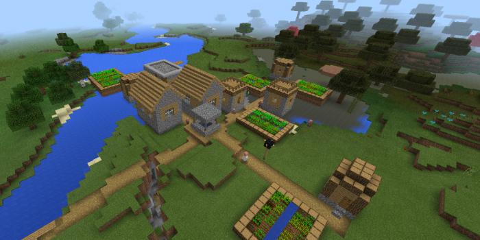 湿地帯にある村