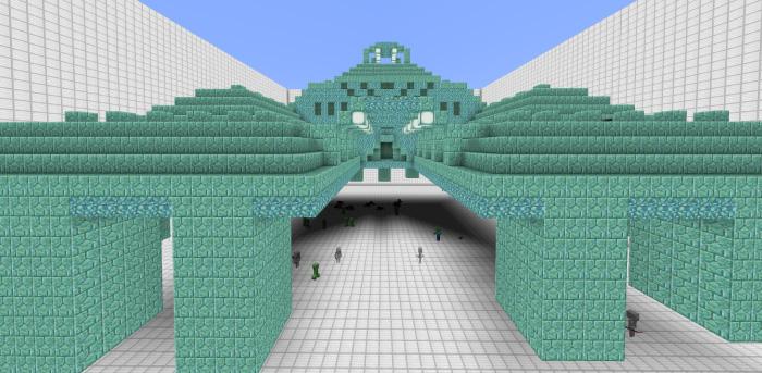 海底神殿の全景