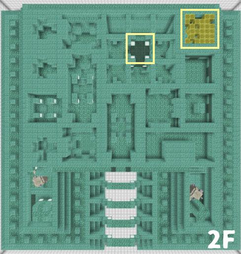 海底神殿2Fの構造