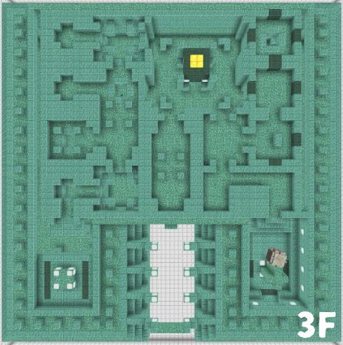 海底神殿3Fの構造