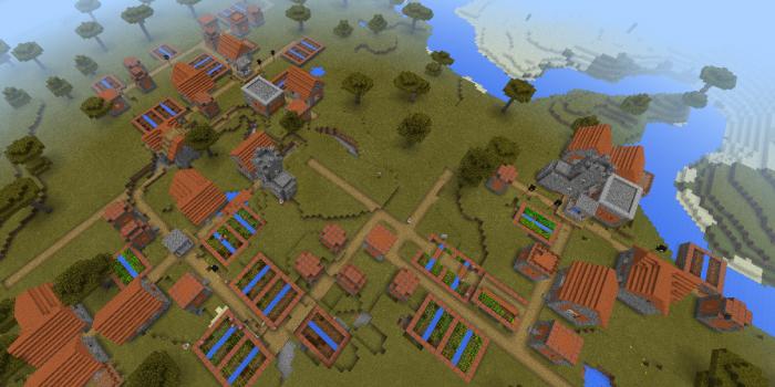 サバンナの村が連なるシード値