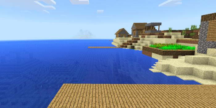 村と海底神殿のあるシード値