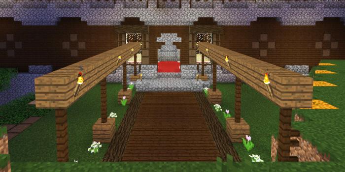 森の洋館玄関の改築