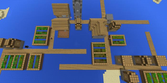 浸水した村
